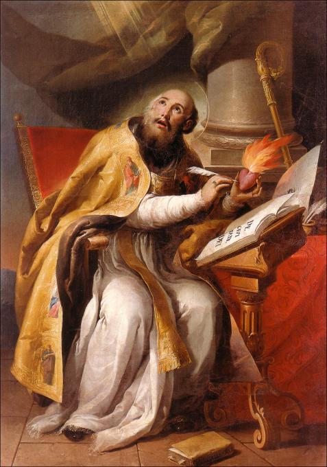 La Sainte Vierge Marie - La Foi et les Œuvres volume 3 – Vicomte Walsh 19 eme siècle  Saint%2BAugustin