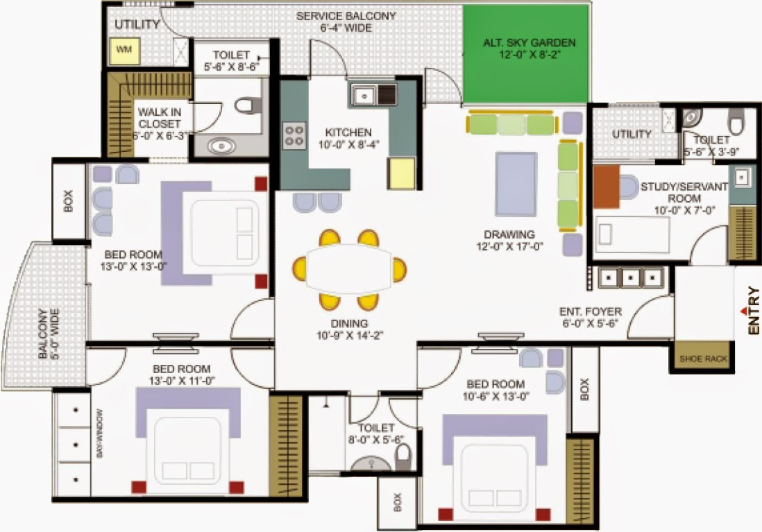 35 awesome house plans different areas from 100 msq to 600 msq for Different floor plans for house