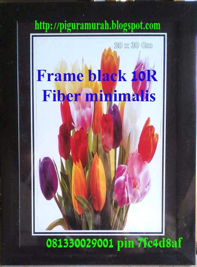 Frame foto pigora fiber hitam minimalis 10R