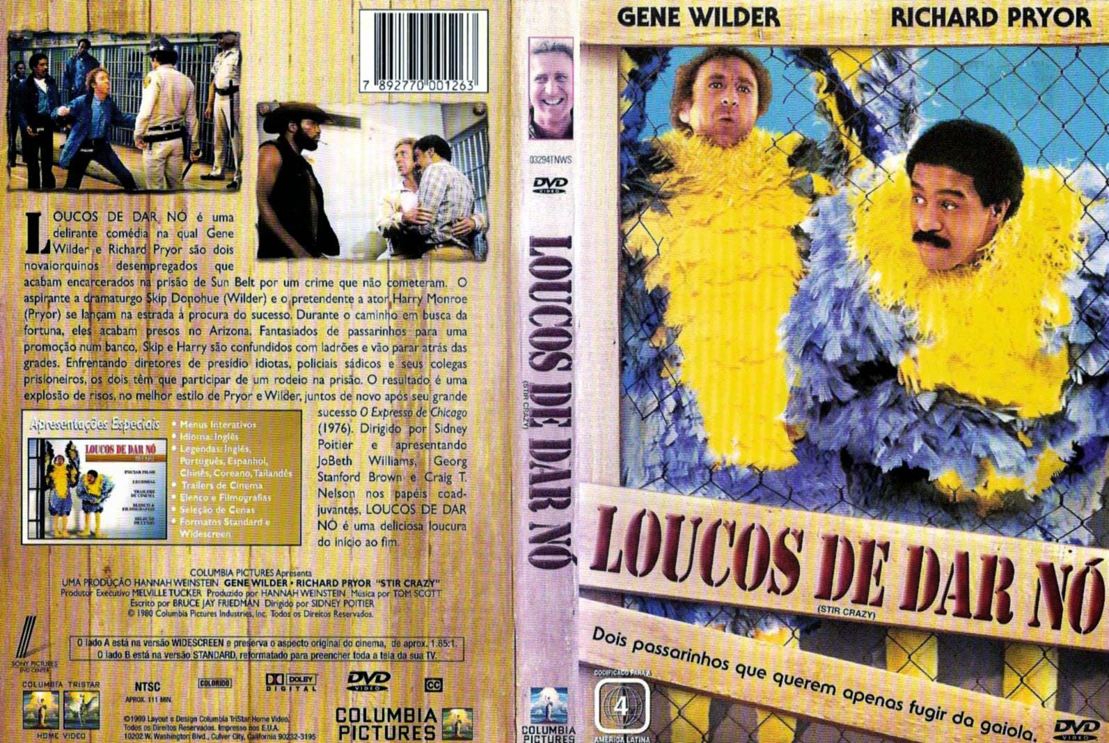 Capa DVD Loucos De Dar Nó