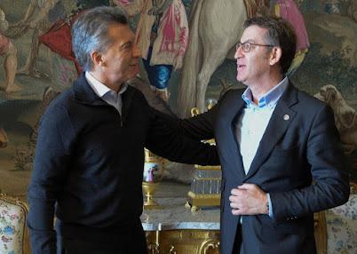 Feijóo en Madrid con el presidente argentino Mauricio Macri