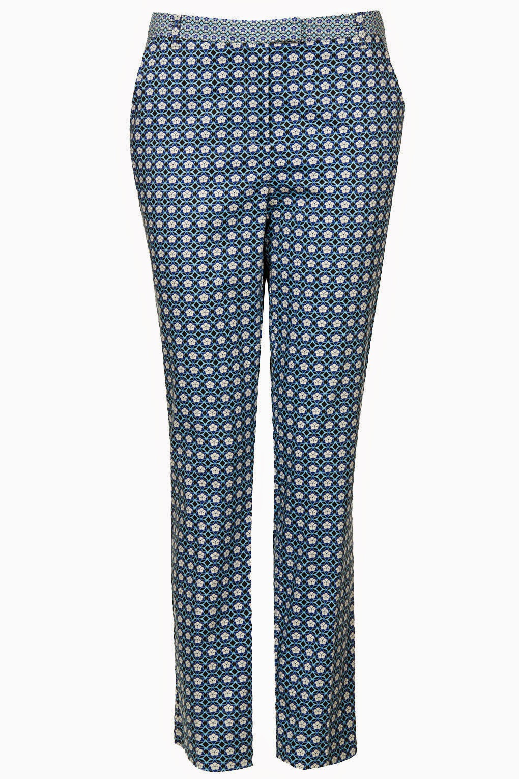 topshop printed trousers