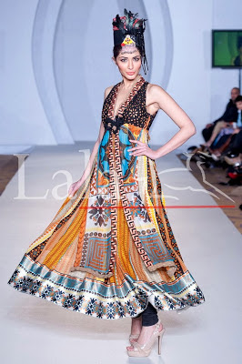 LALA TEXTILE FORMAL DRESSES AT PFW LONDON 3