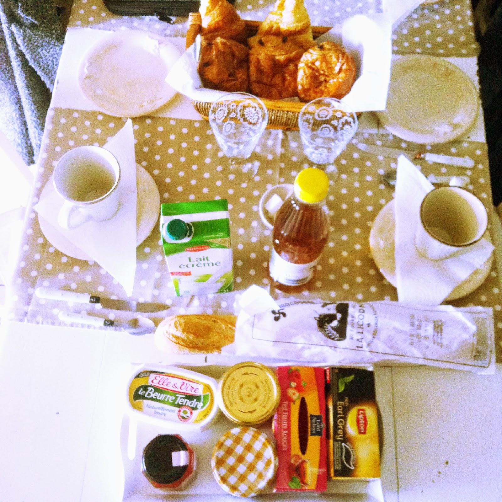 petit déjeuner de vacance
