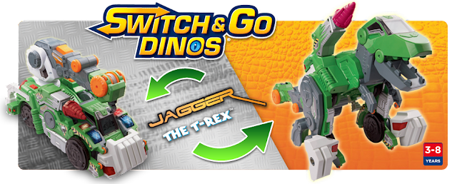 Tech's newest tranforming dinosaur line: Switch & Go Dinosaurs! #