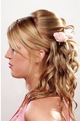 Bridal Party Hairstyles For Long Hiar With Veil Half Up 2013 For Short Hair  Indian Half Up Half Down