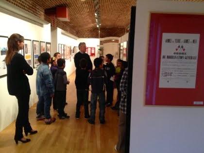 Les visiteurs et le vernissage de l'exposition du centenaire 14-18