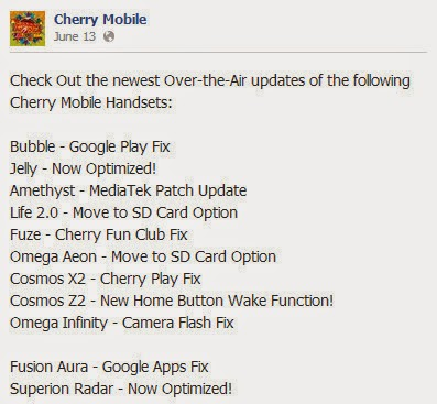 Cherry Mobile OTA Update