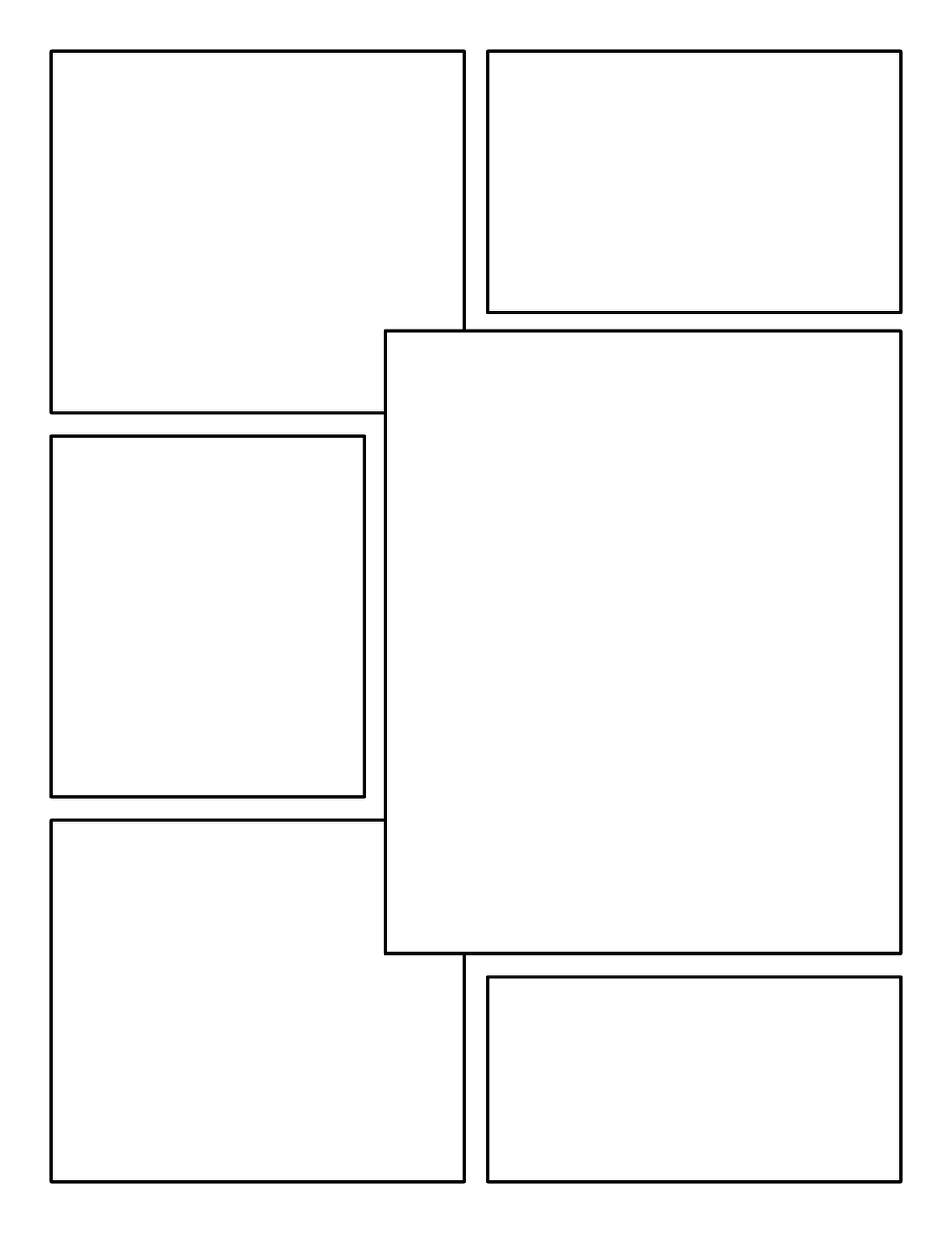 Blank Comic Book Panels Templates
