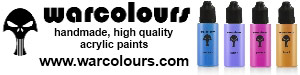 Warcolours, hand-made, high quality acrylic paints
