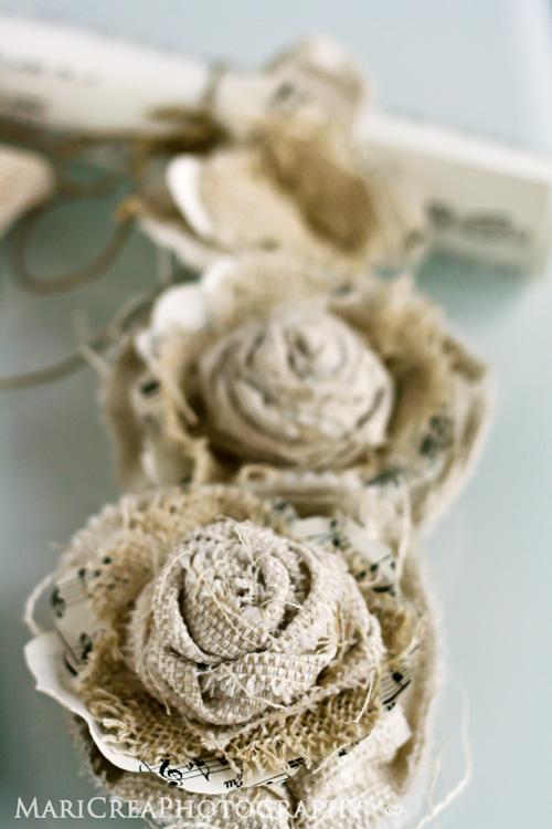 Creamaricrea fiori di carta e juta for Fiori di stoffa shabby chic