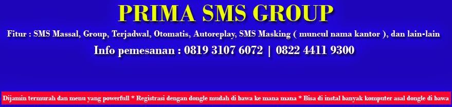 SOFTWARE SMS | SMS CENTER | SMS MASKING | SMS GATEWAY | JUAL SOFTWARE SMS MURAH | SMS MASSAL MURAH