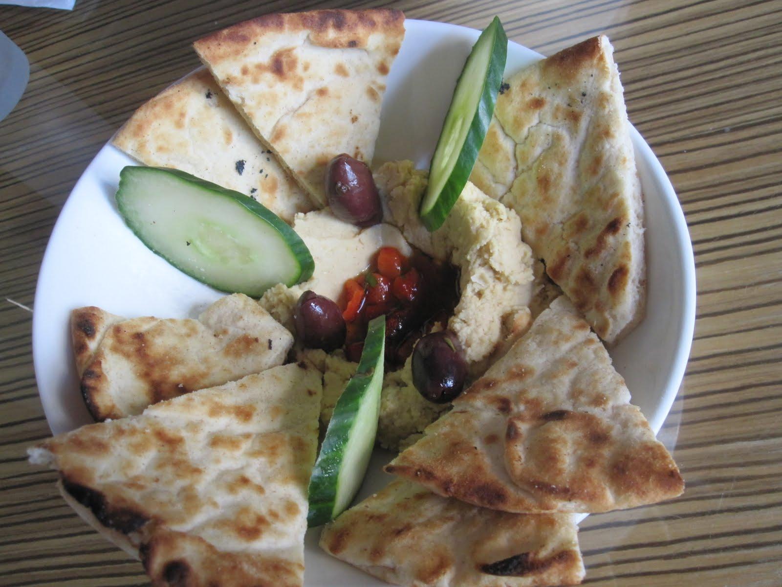 Pita & Hummus and Calamari (both part of $10 Sunsetter deal w/ booze)
