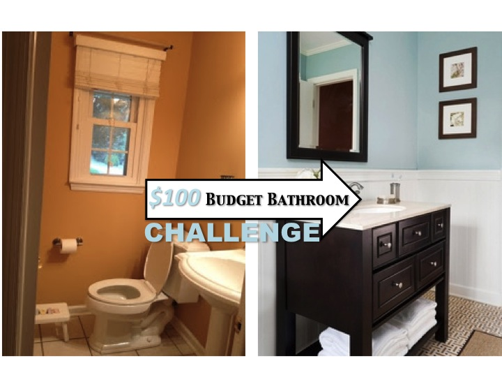 Two It Yourself Small Bathroom Makeover Budget Challenge - Low cost bathroom makeovers