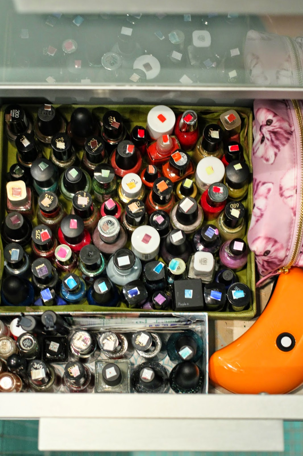 nail polish storage, nail polish organisation, nail polish collection