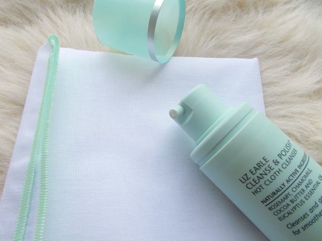 liz earle cleanse and polish hot cloth cleanser skincare blog review