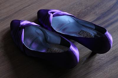 Jesień w kolorach tęczy- moje fioletowe buty ślubne