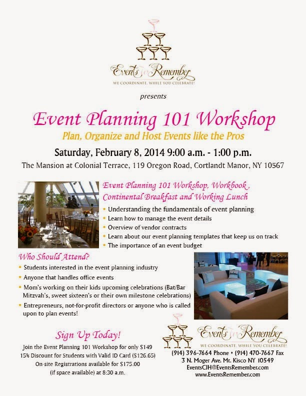 how to successfully plan and organize an event