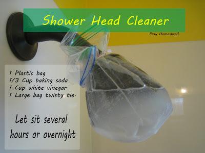 homestead crossing inc 39 s blog diy tip shower head cleaner. Black Bedroom Furniture Sets. Home Design Ideas