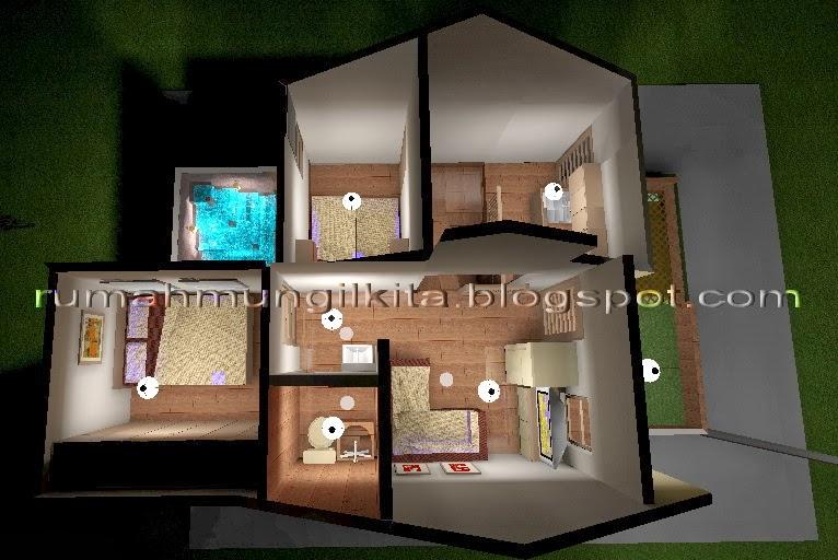 denah rumah hasil renovasi tipe 30 tanah 72