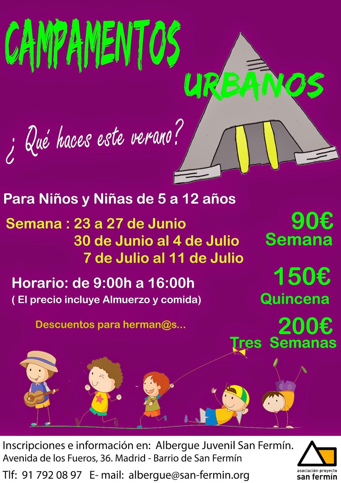 Campamentos Urbanos Albergue Juvenil San Fermin