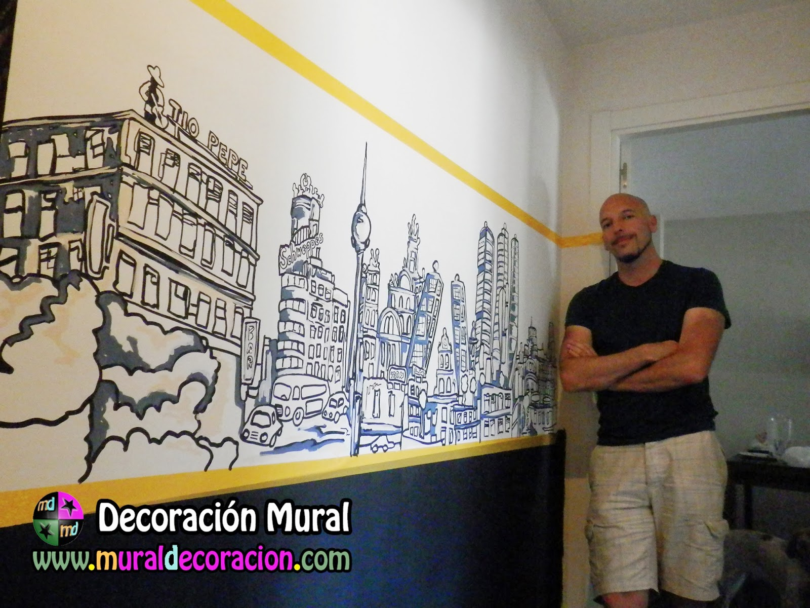 murales_decorativos_skyline_MADRID_oferta