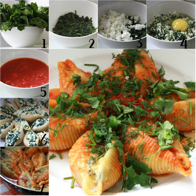 spinach cottage cheese stuffed shells blog kate