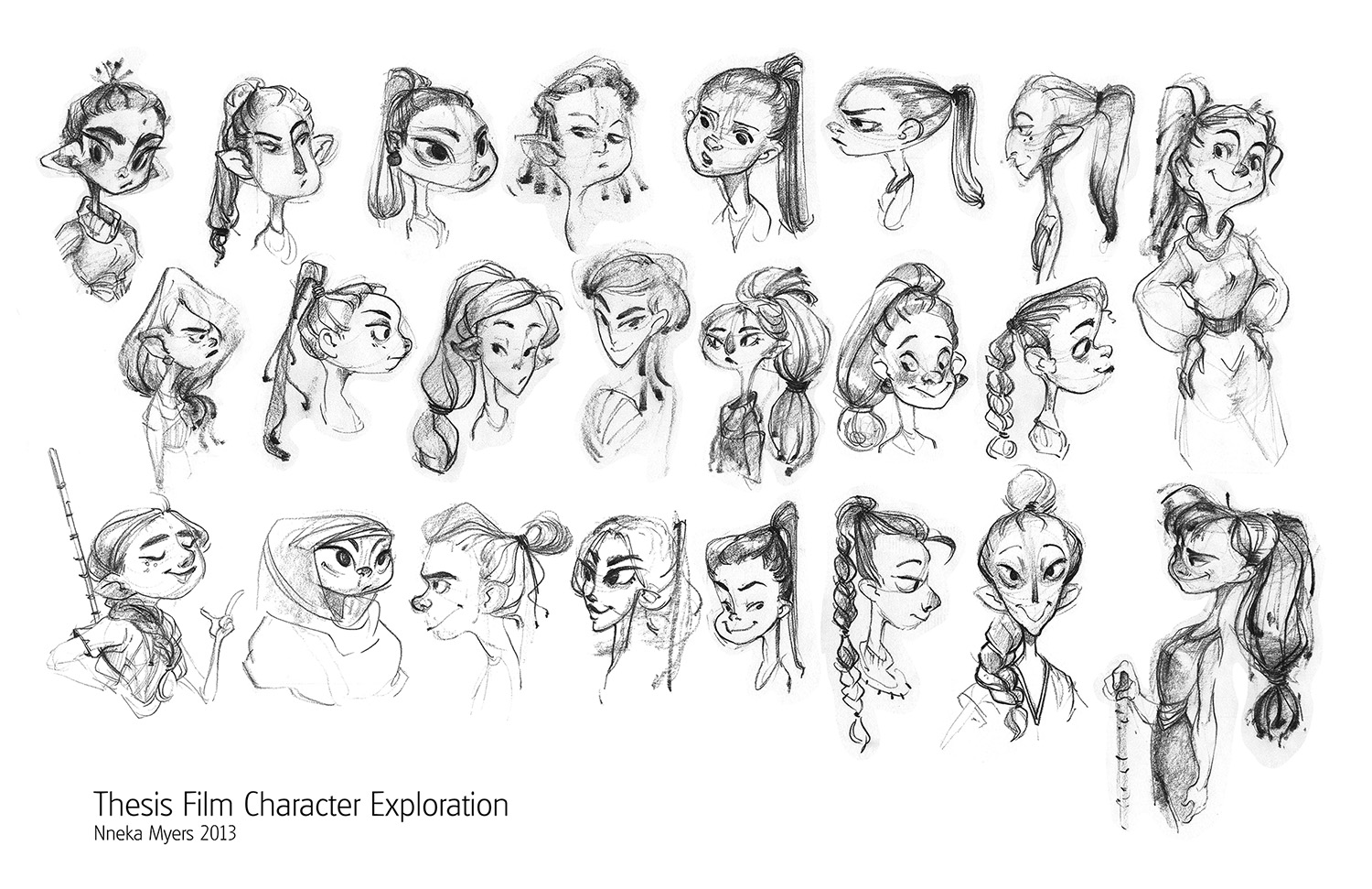 Character Design Documentary : Graphite scrawls thesis film lead character exploration