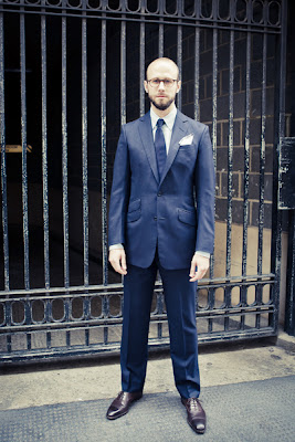 A plain business suit from Timothy Everest