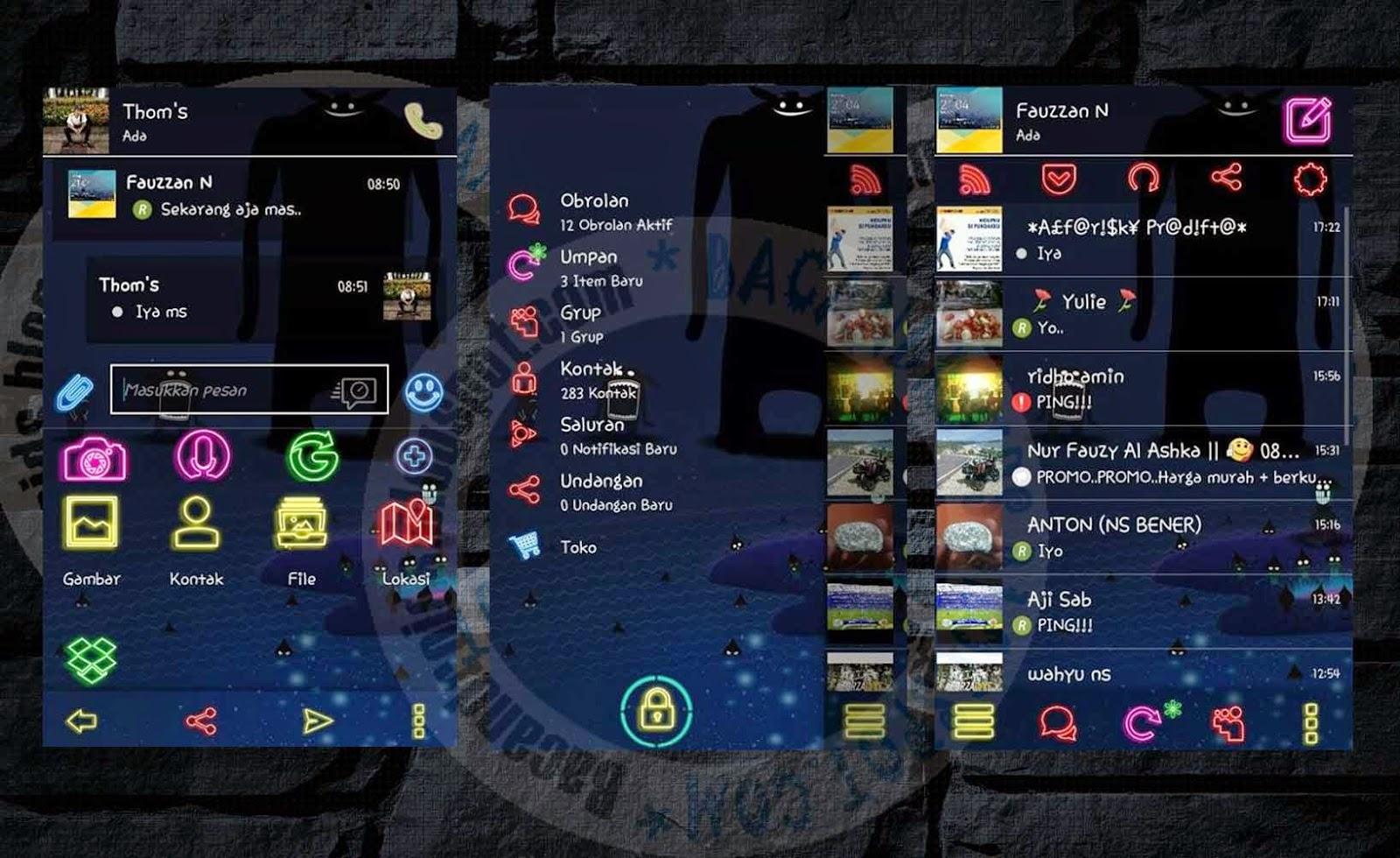 download BBM Mod  Transparent Full Neon Style 2.7.0.23