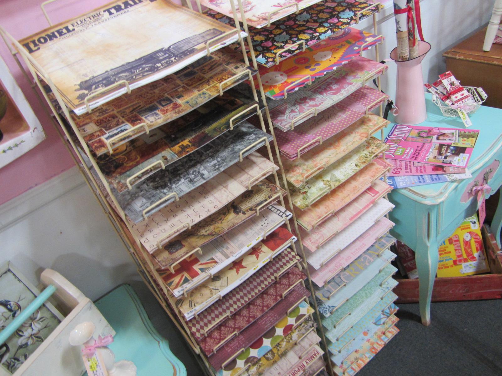 How to store scrapbook paper - Sweet Vintage Wall Cherub