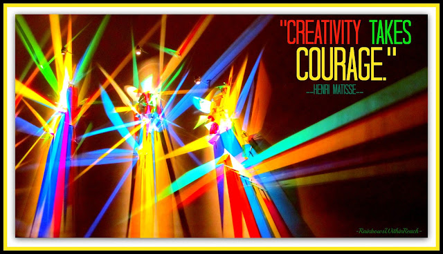 "photo of: Light Show: ""Creativity Takes Courage"" via RainbowWithinReach"