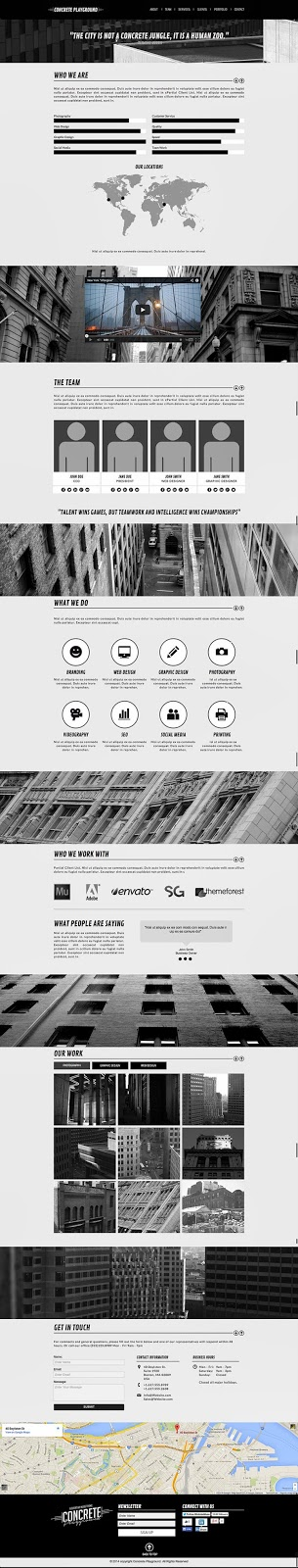 download one page muse template