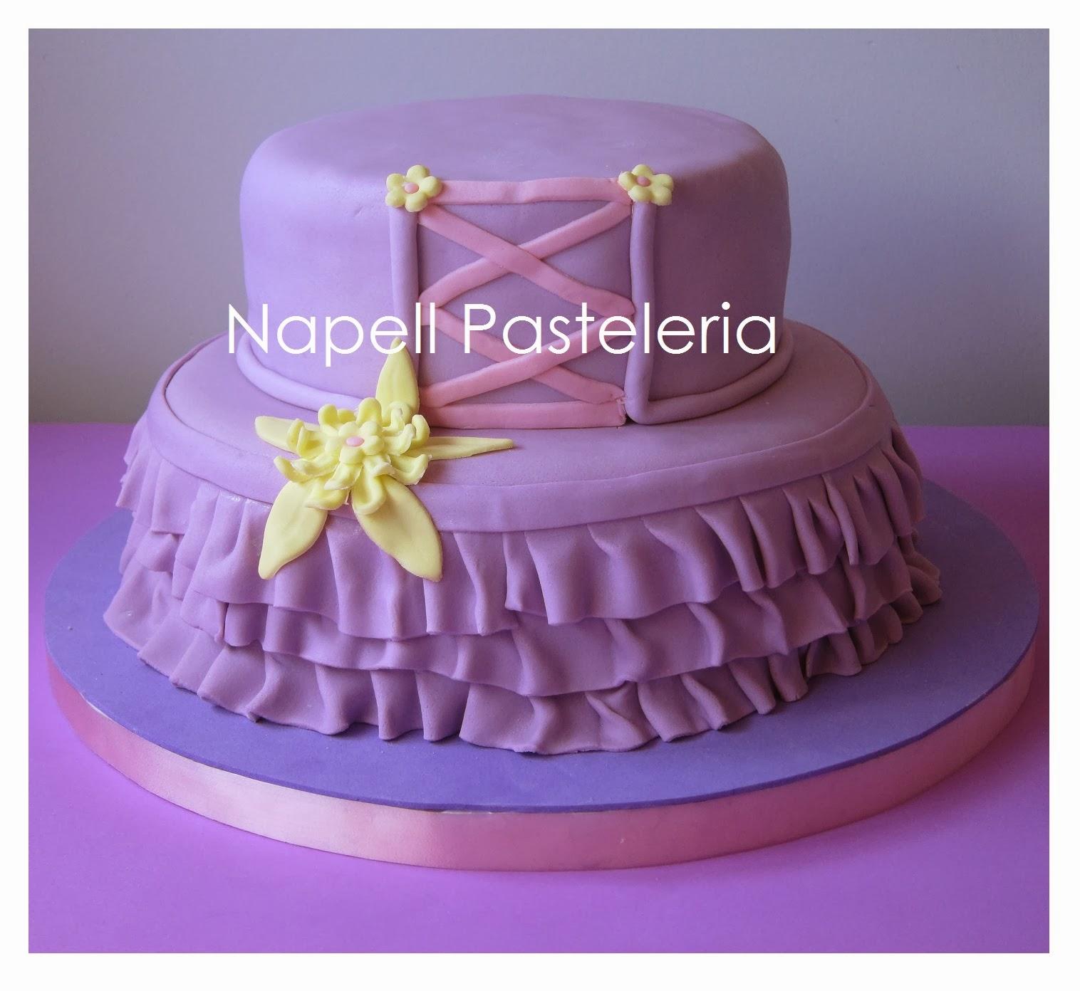 Torta vestido Rapunzel