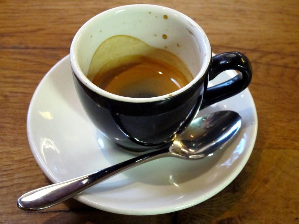 Espresso at Tramontana in Shoreditch