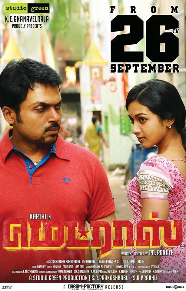 Watch Madras (2014) DVDScr Tamil Full Movie Watch Online Free Download