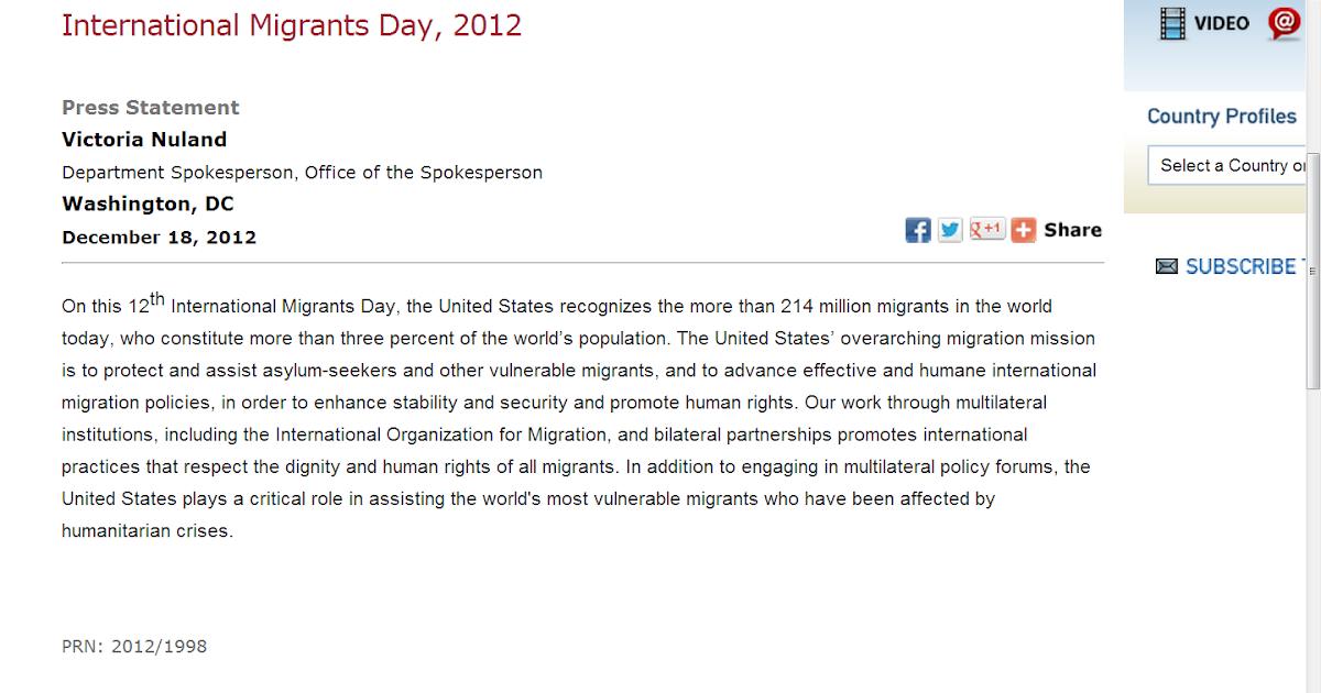 Amazing stories around the world international migrants day 2012
