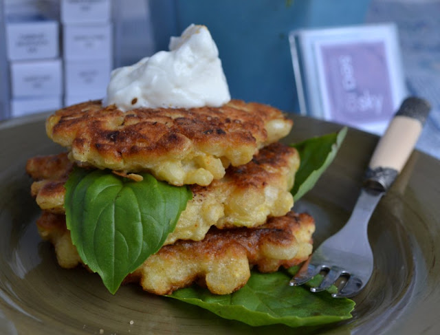 sweet corn on the con fritters from Gourmet women game changers