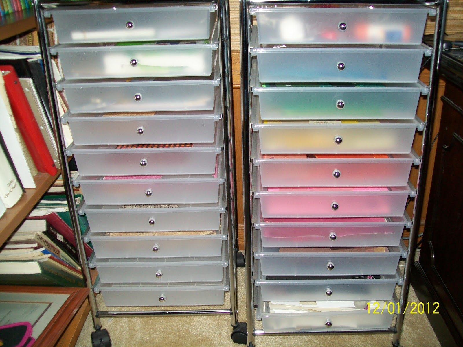 how to build scrapbook paper storage