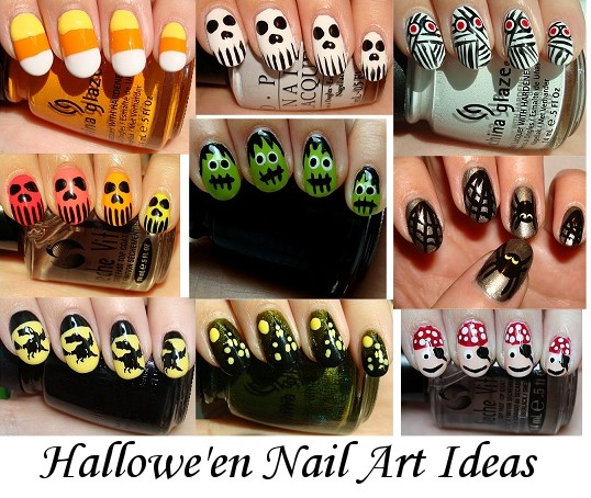 UNIQUE UNUSUAL OR INTERESTING: Hallowe'en Nail Art Ideas