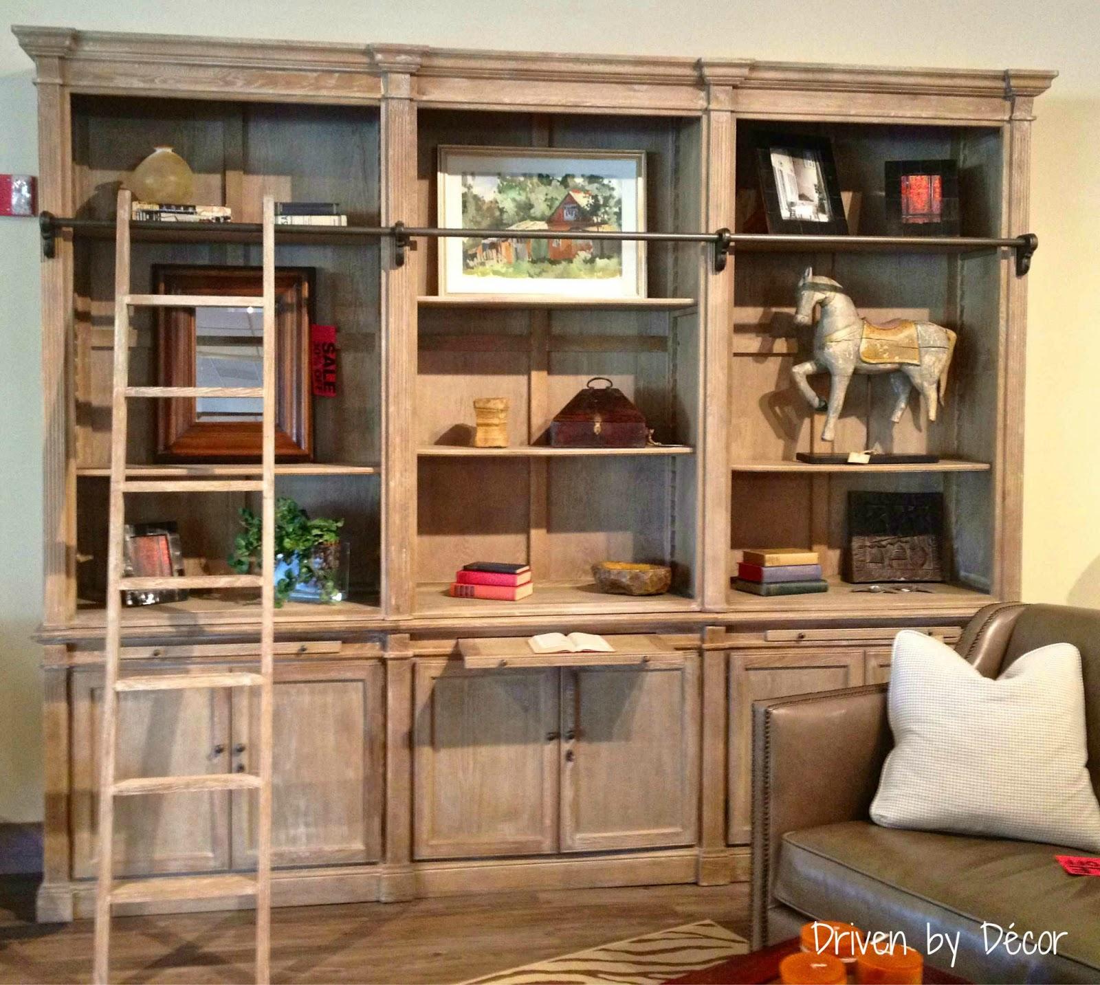 White Wash Three Piece Bookcase