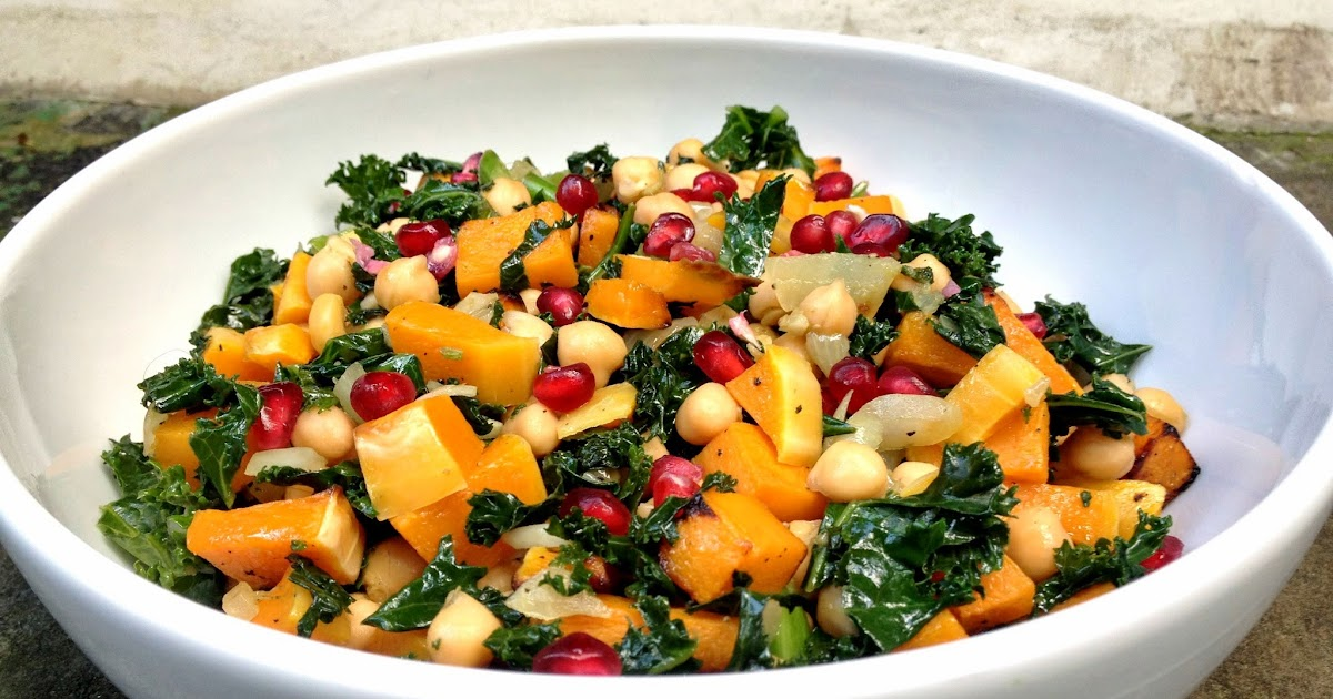 ... Just A Pretty Plate: Butternut Squash, Kale and Chickpea Summer Salad