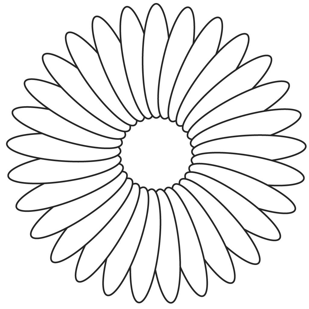 Colouring Picture Templates : Flower coloring template page