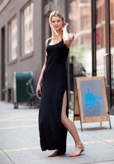 maxi vestido preto