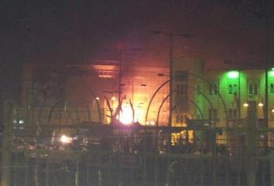 حريق ضخم في مبنى هيئة السكك الحديدية بميدان رمسيس