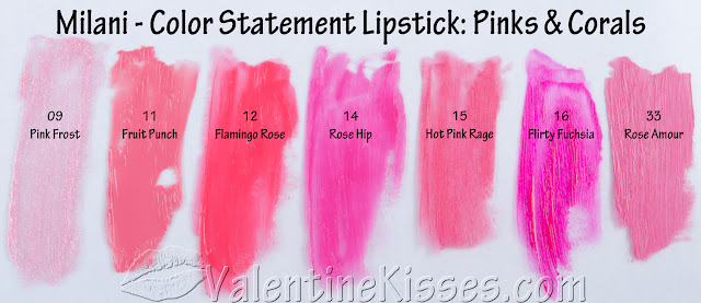 Milani Color Statement Lipstick - ALL 30 Shades! - swatches, pics