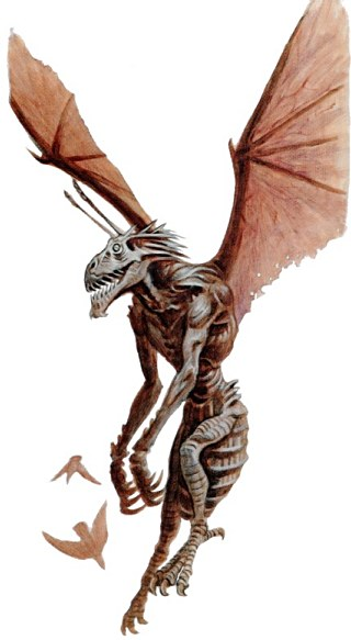 Bhyakee A Great Stalwart Of The Game Insectoid Winged Can Be Used To Stalk Its Prey For Example See Happy Family In Adventures Arkham