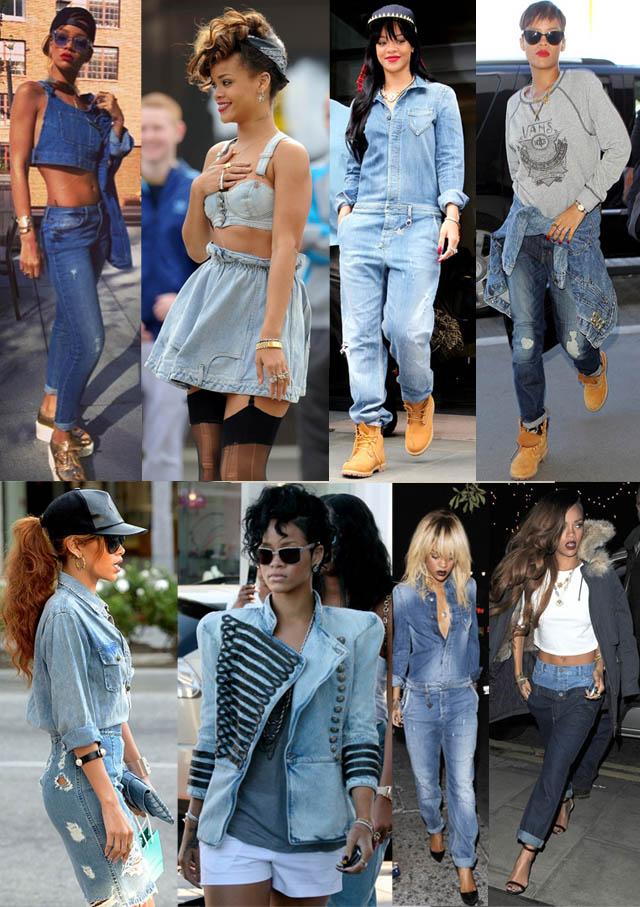 GANG GIRL-Rihanna-o estilo de rihanna-moda de rua-jeans-trend jeans-t-shirts-como usar camiseta no look-02