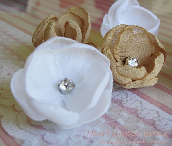 Flowers with rhinestones for brides
