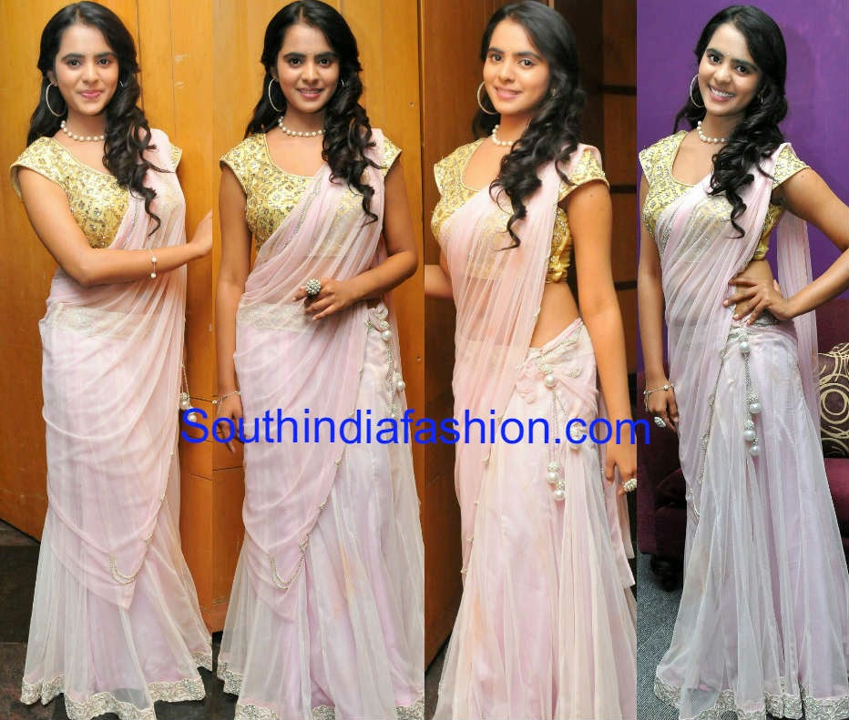 manasa himavarsha half saree at reclaim childhood cultural event